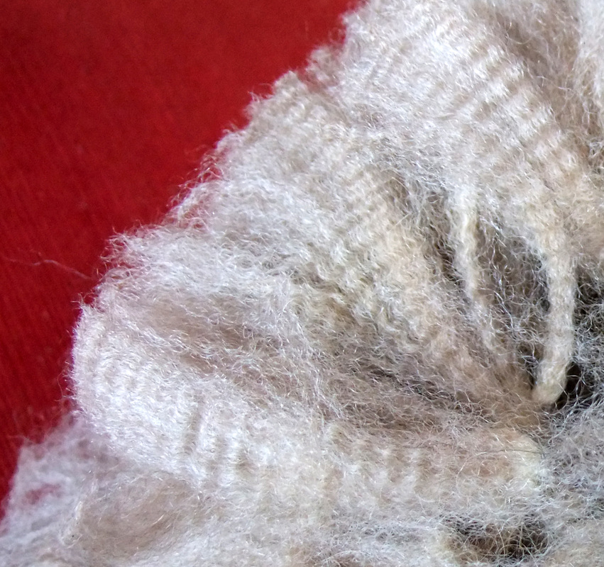 10-year harlequin alpaca fleece